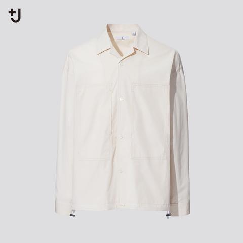 ユニクロ+J 2021SS スーピマコットンオーバーサイズシャツ ブルゾン