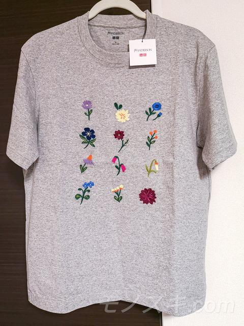 ユニクロ×JWアンダーソン 花刺繍 クルーネックTシャツ