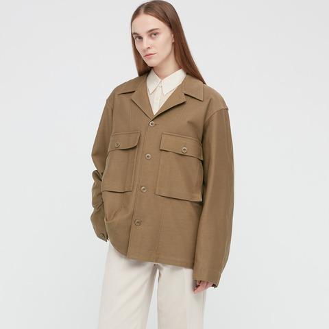 ユニクロU2021SS ジャージージャケット 女性モデル