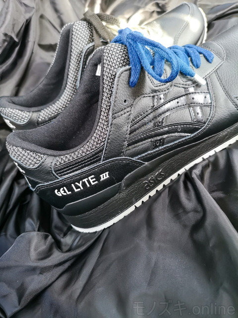 GEL-LYTE Ⅲ ブラック VINCENT SHOELACE INDIGO ヒール部