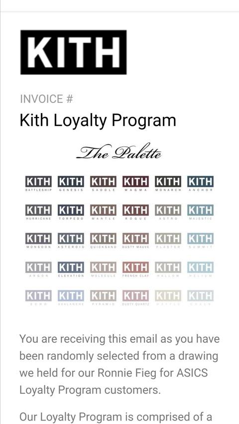KITH The Palette Loyalty Program