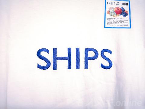 SHIPSロゴ刺繍 フルーツオブザルーム