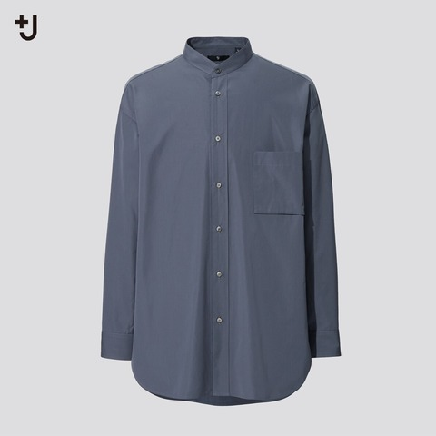 ユニクロ+J スーピマコットンシャツ グレー