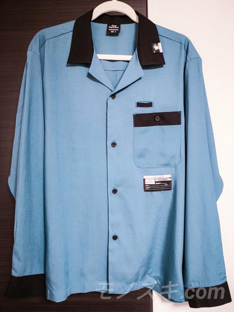 GU×ミハラヤスヒロコラボ ボウリングシャツ ターコイズブルー