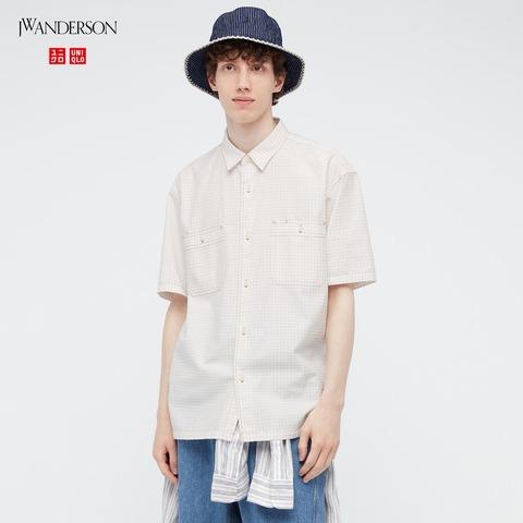 ユニクロ×JWアンダーソン リップストップシャツ コーデ