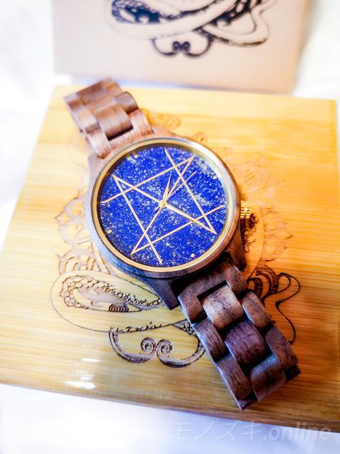 天然石×天然木の時計NOZ 光の当たり方