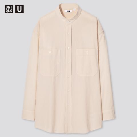 ユニクロU2021SS ワイドフィットスタンドカラーシャツ